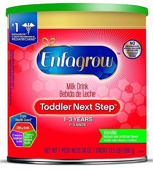 幼儿1-3岁 Next Step奶粉,香草味,24oz,4罐装