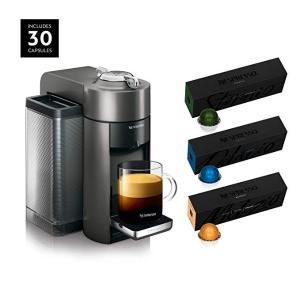 $99.99Nespresso Vertuo 浓缩胶囊咖啡机+30粒胶囊超值套装