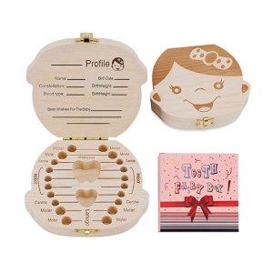 史低价:NASHRIO 松木儿童乳牙纪念盒,换牙期的珍贵留念