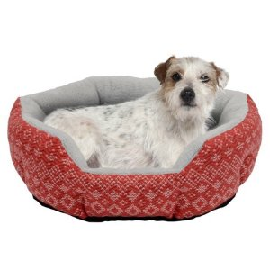 Holiday Time Small Cuddler Pet Bed, 19