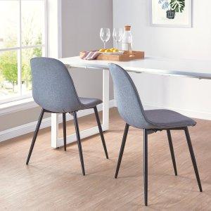 Super Mainstays Bucket Seat Metal Leg Dining Chair Set Of 2 Gray Machost Co Dining Chair Design Ideas Machostcouk