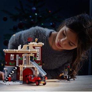 售价£84.99 + 送约£8.5的积分LEGO 乐高 2018圣诞冬日消防站 10263 套装特卖