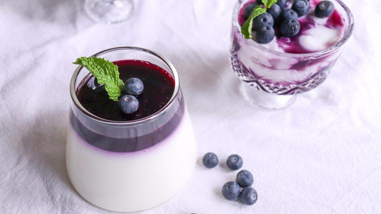 0难度低脂低糖版㊙️蓝莓意式奶冻🍓清理肠胃无负担