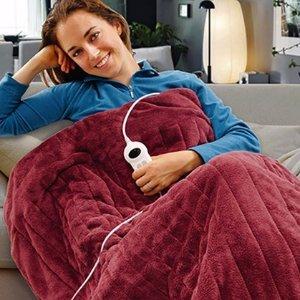 $39.95(原价$119)Groupon 节能细绒电热盖毯 (4色可选)