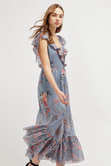 碎花连衣裙
