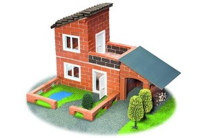 teifoc Villa with Garage Construction Set and Educational Toy - Intro to Engineering and STEM Learning