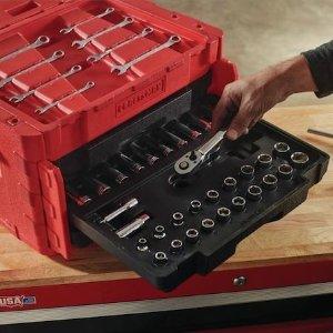CRAFTSMAN 232-Piece Standard (SAE) and Metric Combination Polished Chrome Mechanics Tool Set
