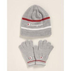 Champion4-7岁儿童帽子手套 两件套