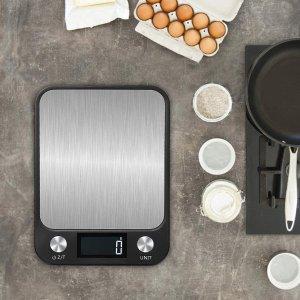 $15.29(原价$23.98)Supkitdin 多功能厨房电子秤 不锈钢平台10kg称重 自动关闭