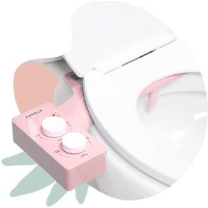 额外8.5折 $75收经典款11.11独家:Tushy 平价免治马桶洁身器 无需插电 安装简易 粉色系列