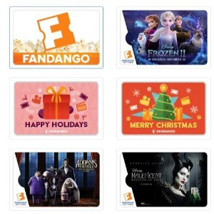 Free Movie Ticket and $10 Concession CashPurchase $100 or more Fandango gift card