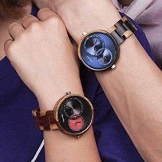 $21.64(原价$28.99) 异时区情侣表BOBO BIRD 男士女士双时区木质腕表,多色可选