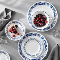 Corelle True Blue Dinnerware Set, Service for 4