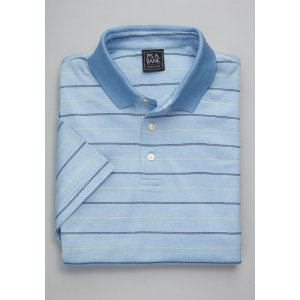 Traveler Collection Traditional Fit Herringbone Short Sleeve Stripe Polo - Traveler Polo Shirts | Jos A Bank