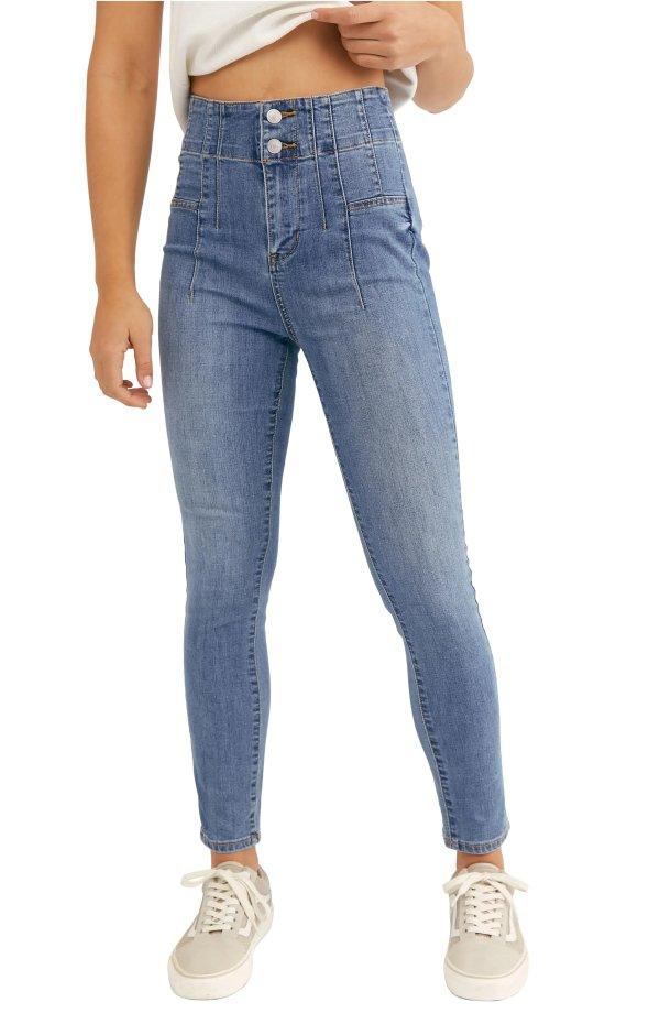 高腰牛仔裤