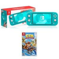 Nintendo Switch Lite 绿松石色 + 《古惑狼赛车》NS游戏