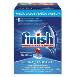 现价$12.22(原价$23.98)史低价:Finish 洗碗机专用洗碗块 110颗装 油污异味1块解决