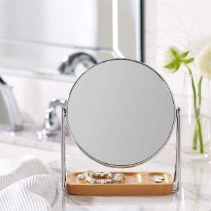 $19.23(原价$27.76)平价高颜值北欧风化妆镜 小仙女化妆台必备 时尚简约