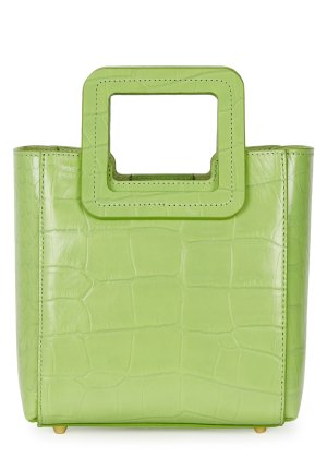STAUD Shirley crocodile-effect leather top handle bag - Harvey Nichols