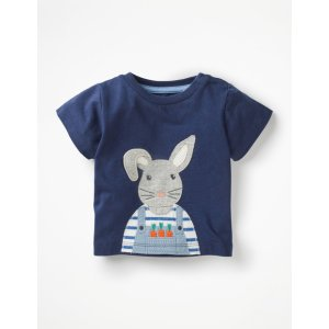 BodenOn-The-Farm T-Shirt - College Blue Bunny | Boden US