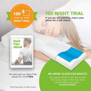 5.8折 £23收枕头+枕套Supportiback 超好用人体工程学枕头好价热促 收获安稳睡眠