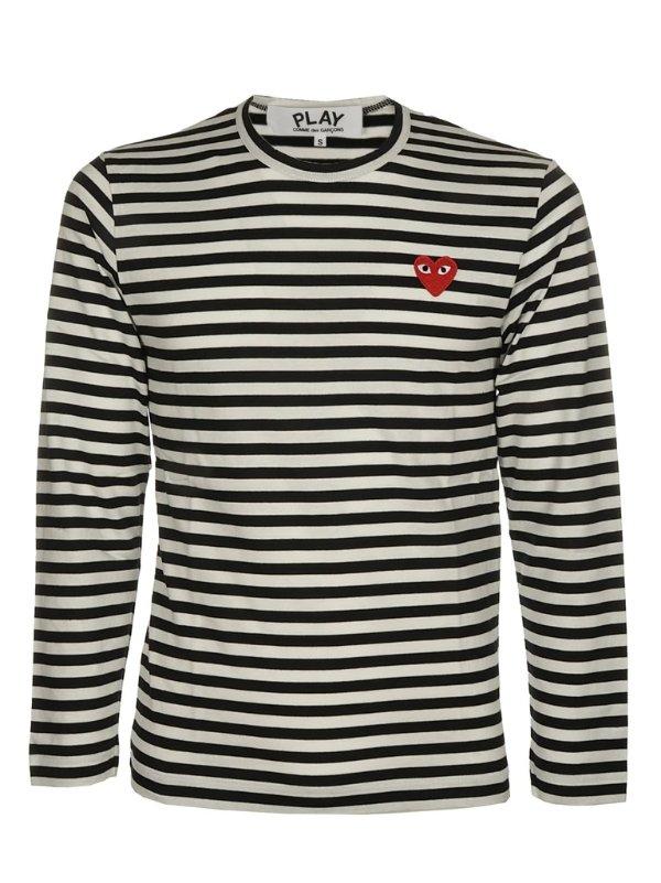Striped 爱心条纹上衣