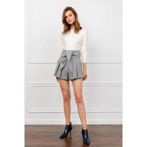 J.INGSuzy Grey Pleated Shorts