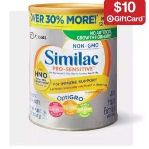 Buy 2 get a $10 gift card onInfant & Toddler Formula @ target