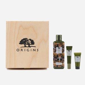 Origins菌菇水+眼霜+面霜15ml