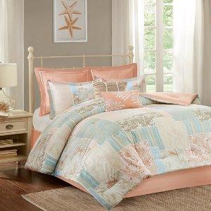 $39Madison Park Cape May 8 Piece Cotton Comforter Set