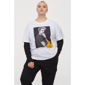 H&M比伯&小黄鸭短袖T恤