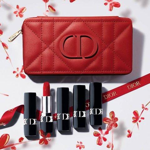 €35.5收全新蓝金口红上新:Dior 迪奥彩妆 2021新年限定来袭 花漾星年 开启新年好运