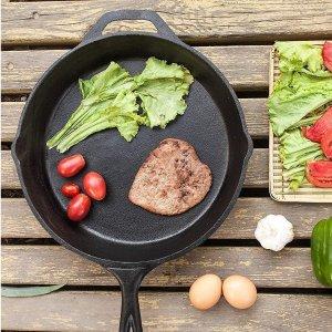 26cm仅€15.99 体验原始食物美味Kichly 铸铁平底锅 以油养锅 煎蛋煎牛排更美味 1-2人适用