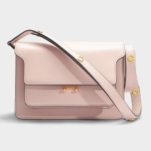 MarniTrunk Medium Bag in Pink Calfskin
