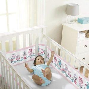 $18.89(原价$29.99)+包邮史低价:BreathableBaby 婴儿床透气网眼床围