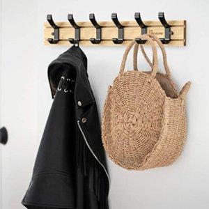 低至9折 £9.8起收Anjuer 家用挂钩 门后挂衣收纳、厨房收纳、卫生间毛巾收纳