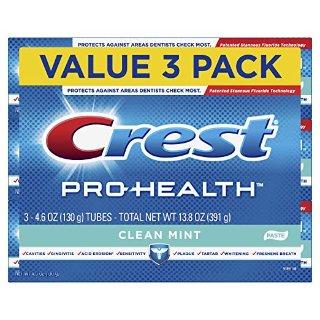 $4.97 (原价$16.99)佳洁士 Pro-Health 薄荷味深层清洁牙膏 4.6oz x 3支