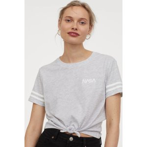 H&M灰色T恤