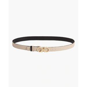 Salvatore FerragamoSkinny Reversible Gancini Leather Belt
