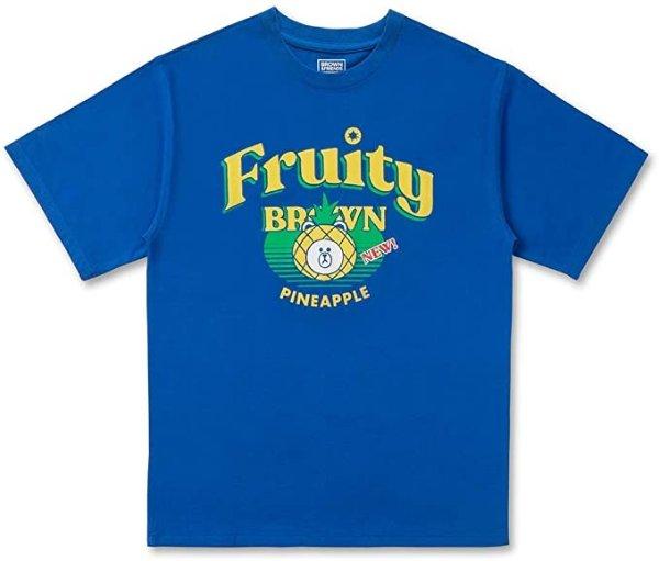 布朗熊 水果主题 T恤