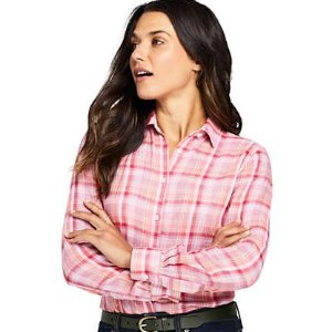 Lands' EndWomen's Double Cloth Pattern Shirt