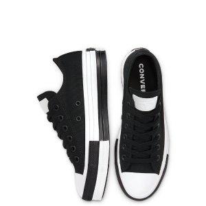 Converse黑白底拼接帆布鞋