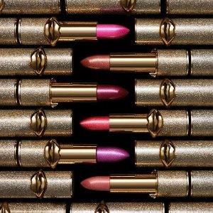 新人9折,送Sigma化妆刷Pat McGrath 限量版金色星辰口红 自带偏光的口红