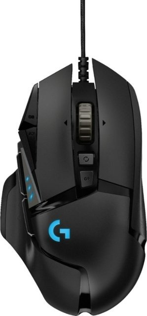 - G502 HERO Wired Optical Gaming Mouse with RGB Lighting - Black