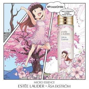 售价$150 两色可选上新:Estee Lauder 联名樱花微精水 包装都是可爱日漫风!