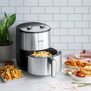 Cooks4.3 Quart Stainless Steel Air Fryer
