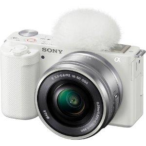 Sony白色ZV-E10 16-50mm 数码相机套机