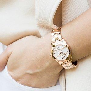 额外减$20 $369.99+包邮无税史低价:TISSOT 珍珠母贝镶钻玫瑰金时装女表