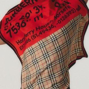 6折 + 最高送$700礼卡Burberry 私密特卖会 围巾$200+,童装外套、毛衣$200+