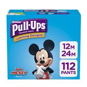 8折+额外9.5折  平均每片$0.21Huggies Pull-Ups 系列宝宝训练裤112片,12-24 个月